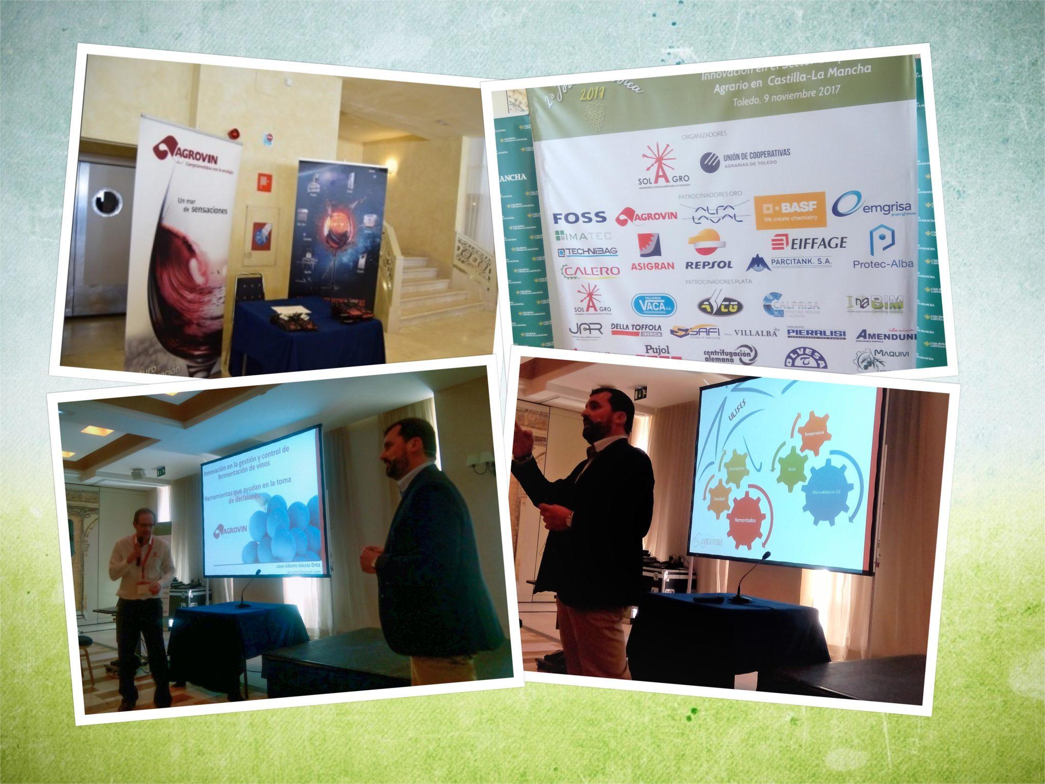 Collage de imágenes de AGROVIN en la 2ª Jornada DICA