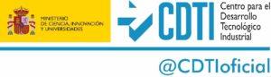 Logotipo Centro para el Desarrollo Tecnológico Industrial y Ministerio de Ciencia, Innovación y Universidades
