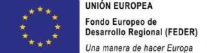 Logotipo Fondo Europeo de Desarrollo Regional (FEDER)